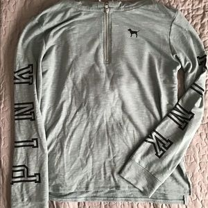 Pink Victoria Secret's Quarter-zip Sweatshirt